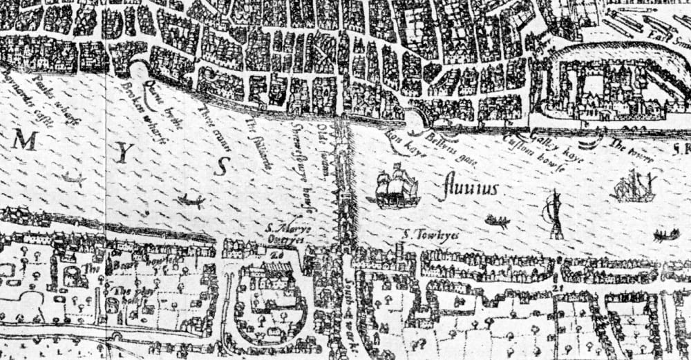 Southwark - Tudor London location of the Stews