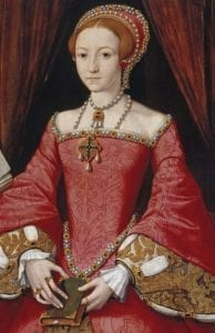 Elizabeth Tudor aged about 13 years